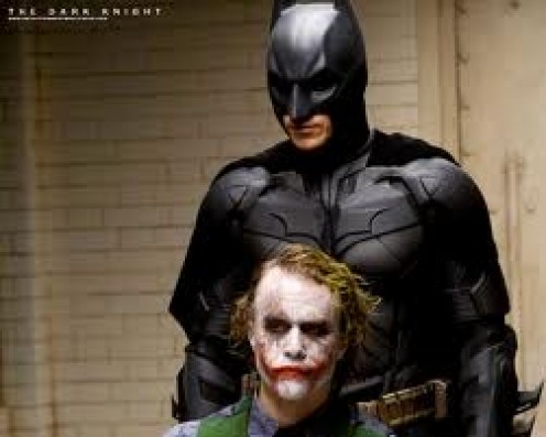 DarkKnight featured Heath Ledger as The Joker. Also, Batman has to deal with Two- Face and other criminals and a mob figure as well.
