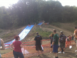 giant slip and slide leads to over 3 feet of muddy water