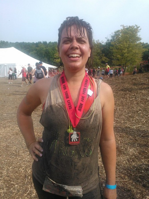 after the race your clothes will be muddy and likely ripped at spots