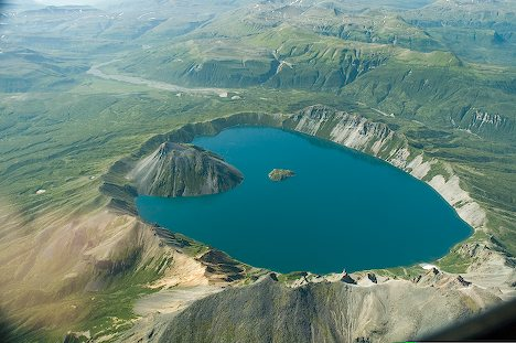 Crater Lakes are formed at the top of Mountains