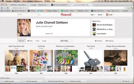 Pinterest is all about the visuals.