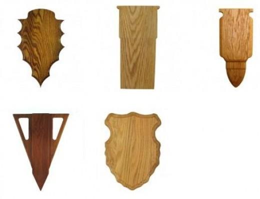 Special Shaped Taxidermy Plaques: Arrow, Shotgun Shell, Rifle Shell, & more