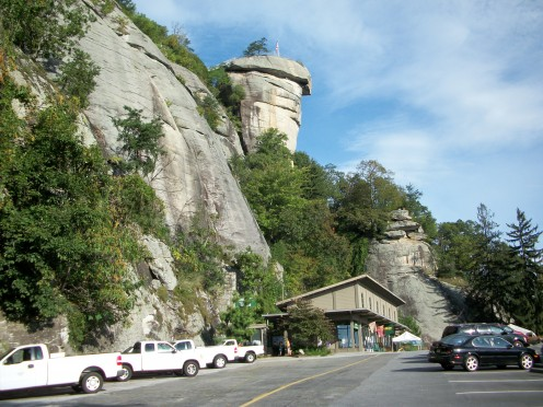 Another positive thing is that at least I did get to hike one of the trails at the great Chimney Rock State Park.