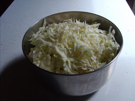 Shredded cabbage