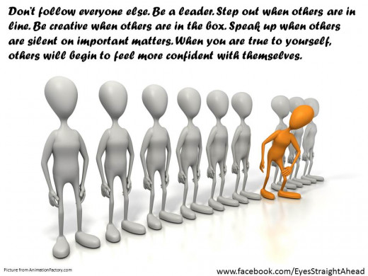 Don't be afraid to stand out from the crowd - just do it humbly.