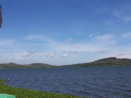 Lake Victoria as seen from the shores of the Speke Resort in Kampala, Uganda.