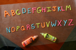 Create the alphabet, pictures, or symbols with dimensional paint for unique window clings.