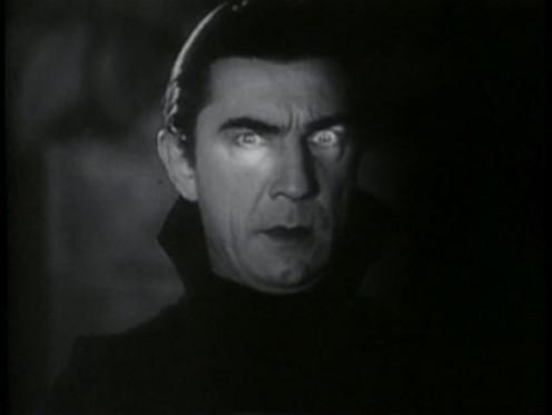 "Bela Legosi in the classic 1931 monster movie ""Dracula."""