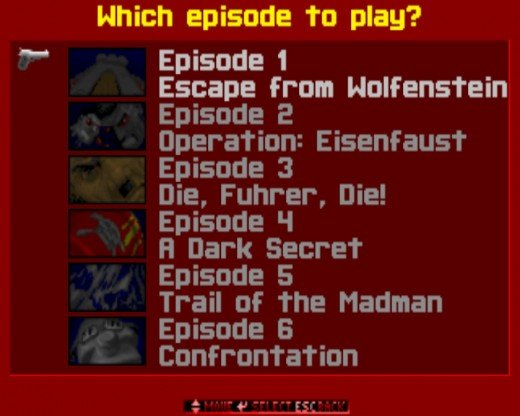 The 6 episodes you can play in any order.