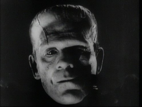"Boris Karloff in ""The Bride of Frankenstein."""