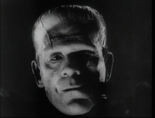 "Boris Karloff in ""The Bride of Frankenstein."""