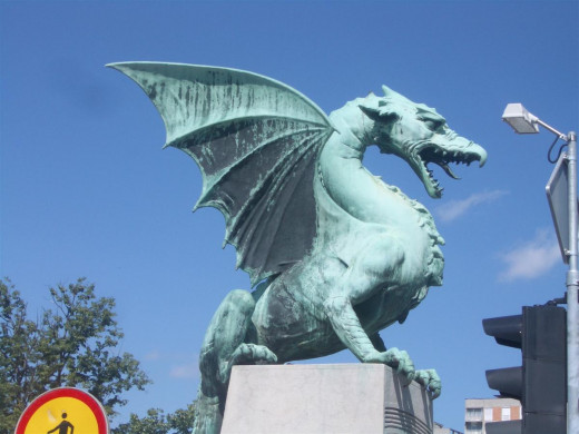 The dragon - the symbol of Ljubljana.