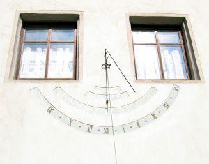 Sundial on a Building