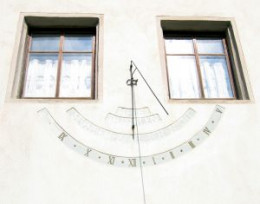 Sundial on a Building