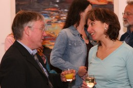 Art conferences are a great opportunity to network with artists.