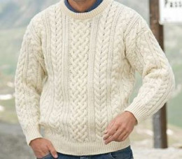 Aran Sweater Great for a cold winter's day. But not summer time in Ireland