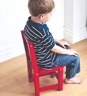 The common strategy of Time Out in the Naughty Corner is not recommended as children are too young and incapable of reflecting on their emotional outburst.