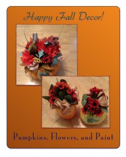 Make Pumpkin Arrangements for Seasonal Décor
