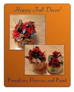 Personalizing floral arrangements is easy when using a pumpkin as a container.