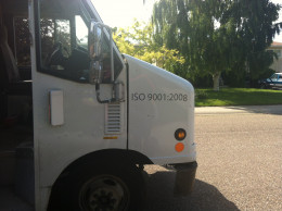 Purolator Truck with ISO 9001