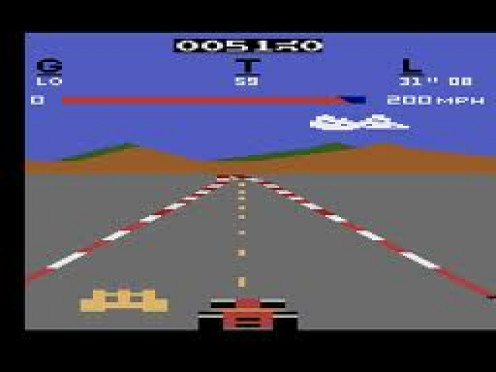 Pole Position was the first Racing game to be released for home play. You could get the steering wheel and pedal for realistic gameplay from your home.