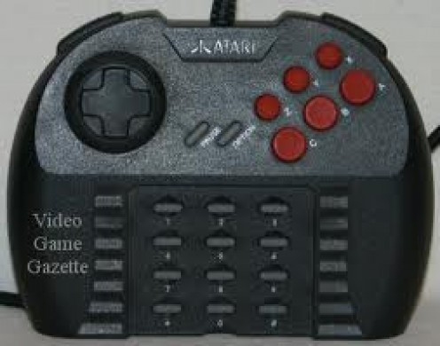 Atari Jaguar Controller: It has tons of buttons but it was too big to hold. For it's time it was still innovative though.