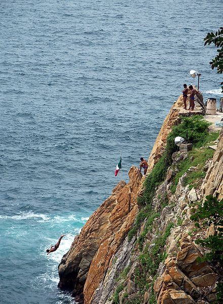 Cliff Dive from 35 meters (115 ft.)