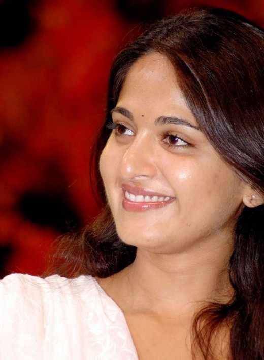 Actress Anushka smiling