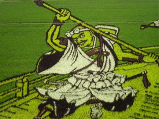 In the midst of the mundane, beauty astounds us with rice field art.