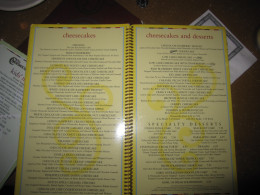 Two full pages of cheesecake options!