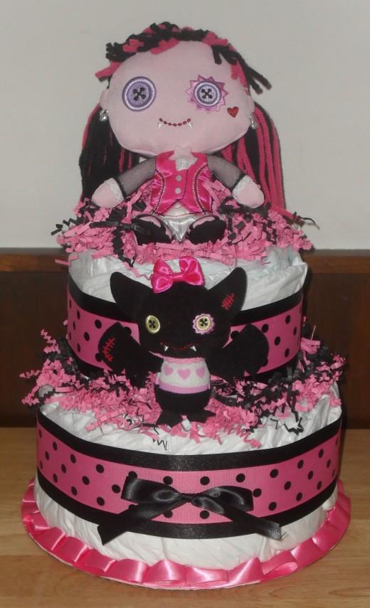 2 Tier Monster High Cake