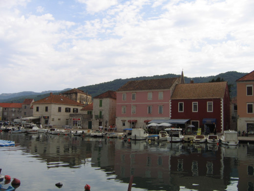 The ancient, sleepy fishing village of Stari Grad, which was the major port on Hvar.  Nowadays, the hustle of Hvar Town is a new hot spot for the island.