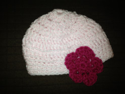 Easy and quick crochet  beanie for a baby