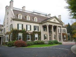 The George Eastman House in Rochester, NY.