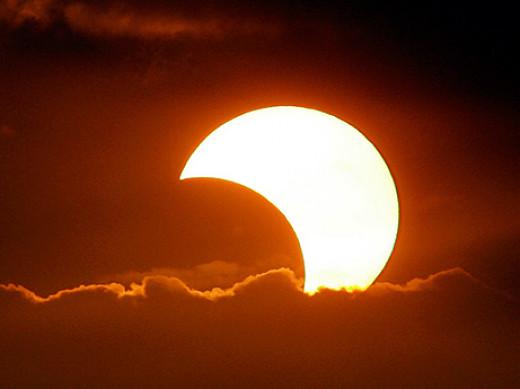 following   a partial eclipse.