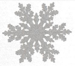Snowflakes in ASCII Text Art