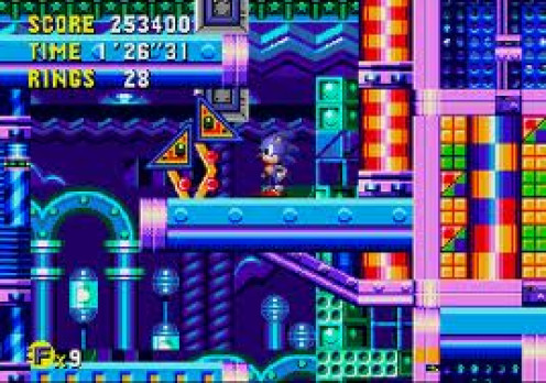 Sonic CD was a spin off from the Sega Genesis classics. The graphics on the CD version were superior to the others.
