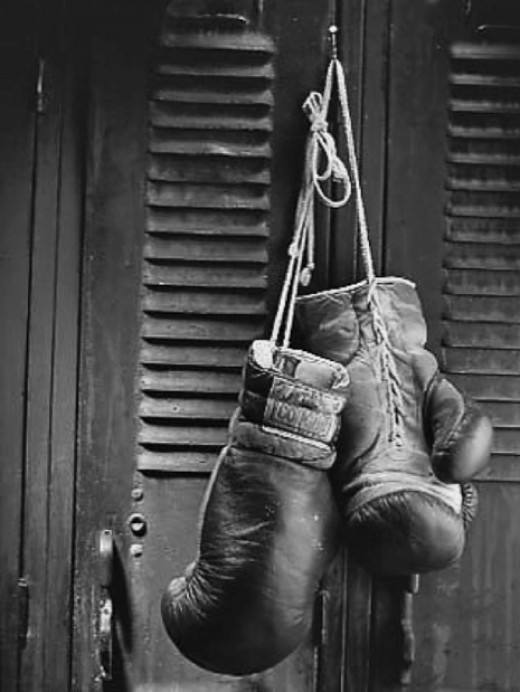 "Letting go of anger can feel like hanging up the boxing gloves. When you learn to ""Let go and let God,"" you won't need them."