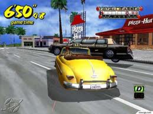 Crazy Taxi was a great racing game for the Gamecube. The player must transport people using a taxi but many obstacles stand between you and your cab fair.