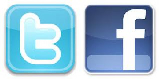 Twitter and Facebook are two of the biggest social networking sites in the world.  They are used by friends and family to communicate as well as by public and private individuals and businesses to promote themselves, and/or associated products.