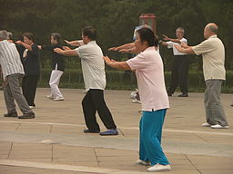 Tai chi moves stretch and relax the muscles.