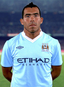 Hard working Tevez