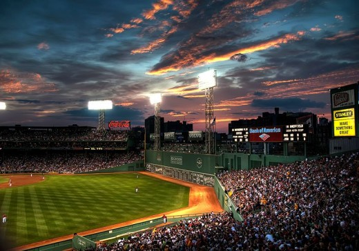 A beautiful evening at Fenway Park in Boston and some of the great seating