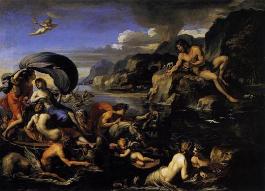 Acis, Galatea, and Polyphemus (~1645)