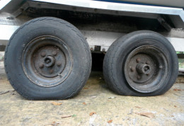 Flat trailer tires - please don't get on the road with these!