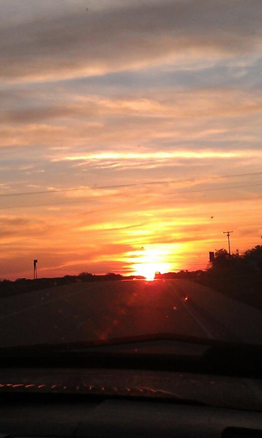 This is a Texas sunset my grandson caught on camera.