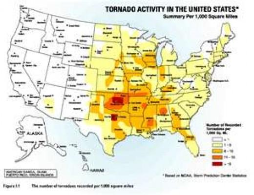 Tornado Alley Map