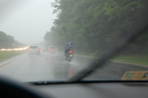 Driving Under Heavy Rain