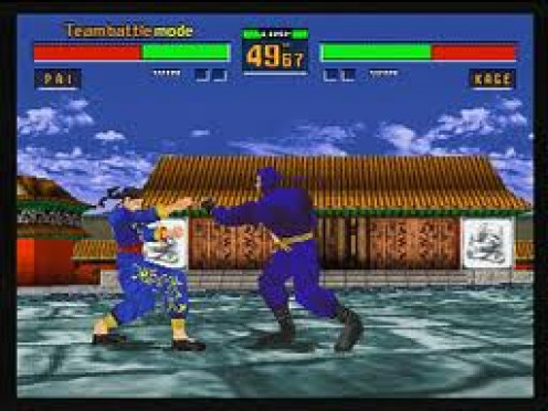 Virtua Fighter was made by Sega for arcade and Saturn systems. It also has had several sequels made about this fighting game.