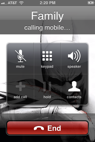 The native Phone app opens and calls the number tied to the icon.